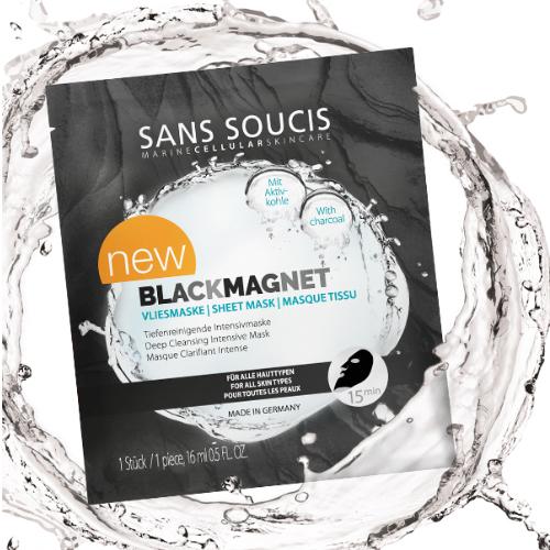 Sans Soucis Black Magnet Vliesmaske