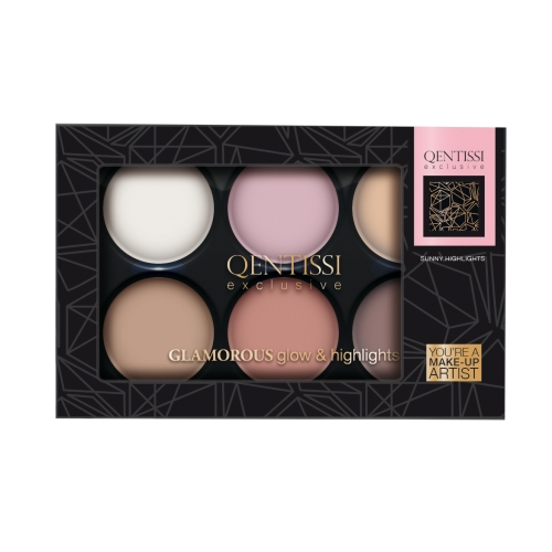 Qentissi&nbsp Make-up Gift Highlight Palette Glow Colors