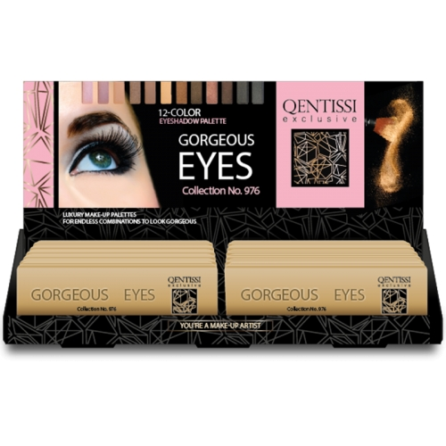 Qentissi  Gorgeous Eyes Tin Palette Eyeshadow 12 colors