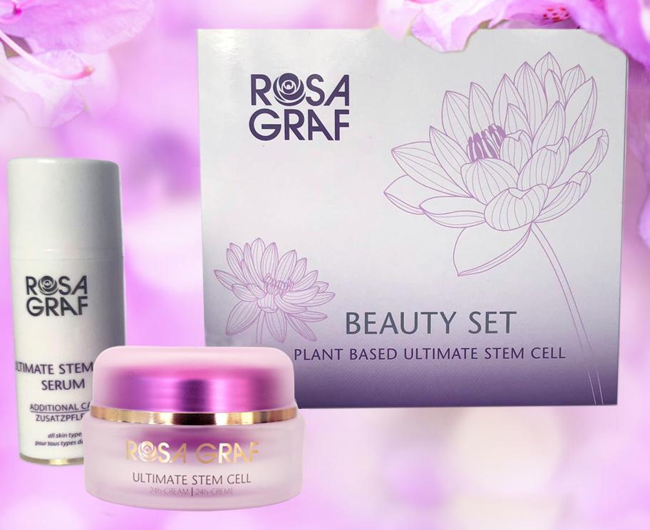 Rosa Graf Beauty-Set PLANT BASED ULTIMATE STEM CELL Serum + Gratis Creme