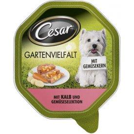 Cesar Hundefutter Gartenvielfalt  mit Kalb und Gemüseselektion