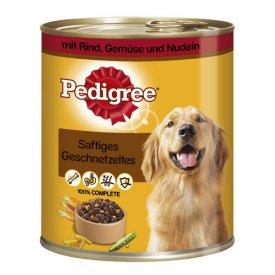 Pedigree Hundefutter Saftiges Geschnetzeltes mit Rind, Gemüse und  Nudeln