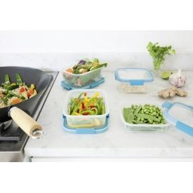 Curver Frischhaltedose Smart Fresh 0,2l rechteckig transparent/hellblau