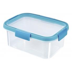 Curver Frischhaltedose Smart Fresh 1,2l rechteckig transparent/hellblau