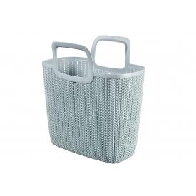 Curver Einkaufstasche Knit Lily 25l, 42x23,4x29cm misty blue