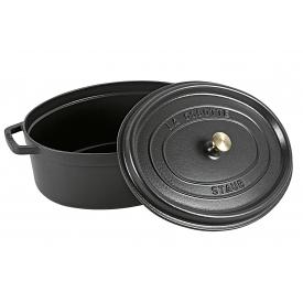Staub Cocotte oval 37cm schwarz