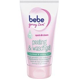 Bebe Young Care Peeling Peeling & Waschgel mischhhaut & unreine Haut
