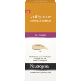 Neutrogena Visible Clear  Cover & Correct Cream Hell