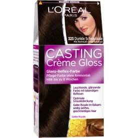 Casting Dauerhafte Haarfarbe Coloration Creme Gloss 323 Dunkle Schokolade