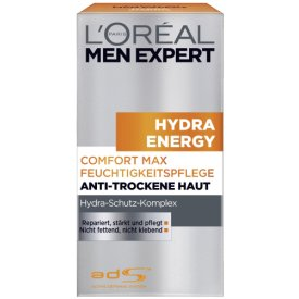 L`Oreal Paris Paris men expert Hydra Energy Comfort Max Feuchtigkeitspflege Anti-trockene Haut