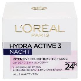 L`Oreal Nachtpflege Hydra Active Nacht Intensive Feuchtigkeitspflege