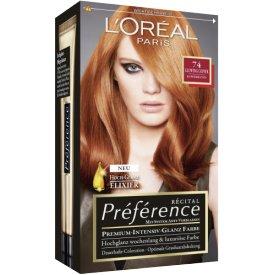 L`Oreal Paris Dauerhafte Haarfabe Préférence  Coloration  DUBLIN Kupferblond