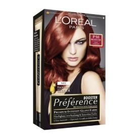 L`Oreal Dauerhafte Haarfabe Coloration Préférence Booster Edles Mahagoni P50