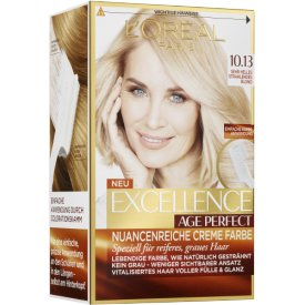 L`Oreal Paris Dauerhafte Haarfabe Excellence Age Perfect 10.13 sehr helles strahlendes Blond