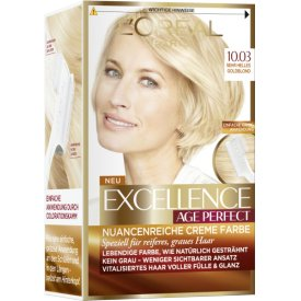 L`Oreal Dauerhafte Haarfabe Excellence Age Perfect Nr. 10.03   Sehr helles Goldblond