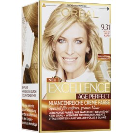 L`Oreal Dauerhafte Haarfabe Excellence Age Perfect Nr. 9.31   Helles Goldblond