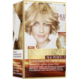 L`Oreal Paris Dauerhafte Haarfabe Excellence Nr. 8.32   Strahlendes Perlblond Haarfarbe