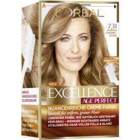 L`Oreal Dauerhafte Haarfabe Excellence Age Perfect Nr. 7.31   Dunkles Caramelblond