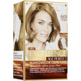 L`Oreal Dauerhafte Haarfabe Excellence Age Perfect 6.03 strahl. Hellbraun