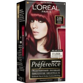 L`Oreal Préférence Coloration 3.66 Dark Red