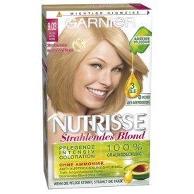 Garnier Dauerhafte Haarfabe Intensiv Coloration Nutrisse 9.03 helles Naturblond