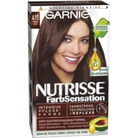 Garnier Dauerhafte Haarfabe Nutrisse Farbsensation 4.15 Tiramisu
