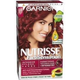 Garnier Dauerhafte Haarfabe Nutrisse Farbsensation 6.60 intensiv Rot