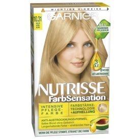 Garnier Dauerhafte Haarfabe Nutrisse Farbsensation 10.31 helles Honigblond