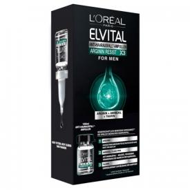 L`Oreal Haarpflege Elvital Arginin Resist X3 Antihaarausfall-Ampullen For Men