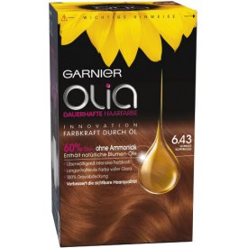 L`Oreal Haarfarbe Olia dunkles kupfergold 6.43