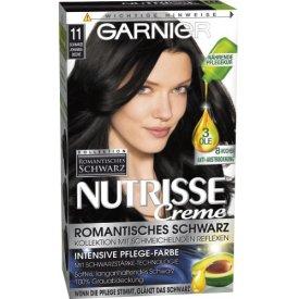 Garnier Haarfarbe  Nutrisse Creme Intensiv Coloration 11 schwarze Johannisbeere
