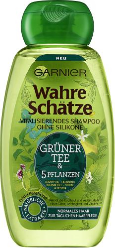 Garnier Wahre Schätze vitalisierendes Shampoo Grüner Tee & 5 Pflanzen