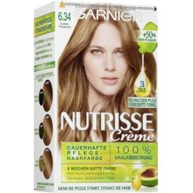 Garnier Nutrisse Coloration Dunkles Honigblond 6.34