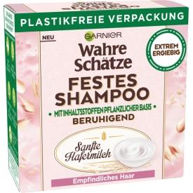 Wahre Schätze Festes Shampoo Sanfte Hafermilch