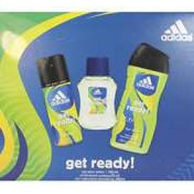 Adidas  Geschenkset  Get Ready  Aftershave, Deospray & Duschgel