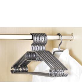 Kesper Kleiderbügel mit Steg Kunststoff 40cm grau 10er Set