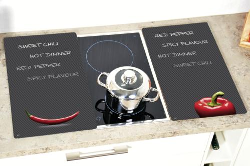 Kesper Multi-Glasschneideplatte Paprika & Chili 52x30x0,8cm 2teilig