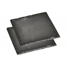 Kesper Servierplatte Schiefer 20x20cm 2 Stück