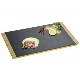 Kesper Buffetplatte Schiefer/Bambus 45x30x1,5cm