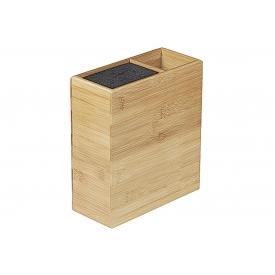 Kesper Messerblock mit Utensilienbehälter Bambus 20,5x9,4x23cm