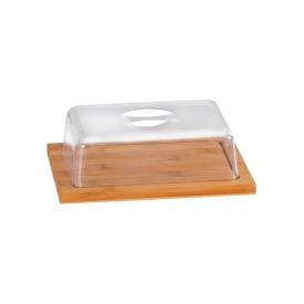 Kesper Käseglocke mit Kunststoffhaube 25x20x8cm