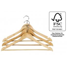 Kesper Kleiderbügel mit rutschfestem Steg FSC Rockkerben 3Stück