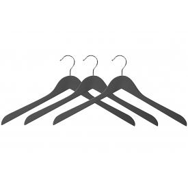 Kesper Kleiderbügel rutschfeste Beschichtung FSC® dunkelgrau 3er Set