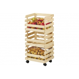 Kesper Kartoffel- & Obsthorde Kiefernholz 3teilig