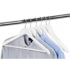 Kesper Kleiderbügel mit Steg FSC Lotusholz 44,5cm weiß 6er Pack