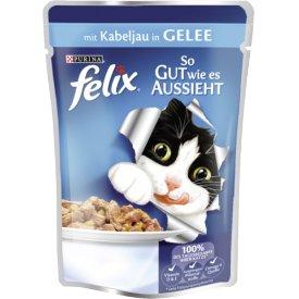 Felix Katzenfutter So gut wie es aussieht mit Kabeljauin Gelee