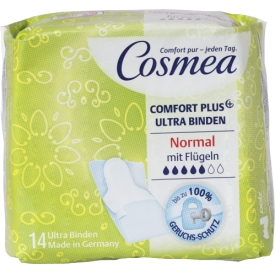 Cosmea Damenbinden Ultra dünn Normal plus mit Flügeln