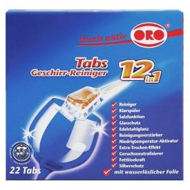 Oro frisch-aktiv Geschirr-Reiniger Tabs 12 in 1