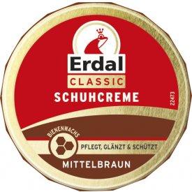Erdal Schuhcreme Dose Mittel Braun