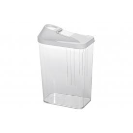 Keeeper Vorratsdose Schüttdose 1,5 l 21,5x7x21cm weiß